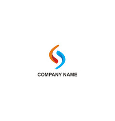 Circle spin balance technology company logo vector