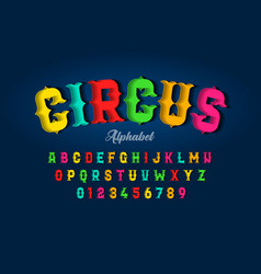 circus style font design vector image