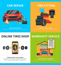concept of auto tire service garage vector image