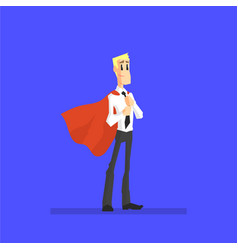 confident successful businessman in red cape male vector image
