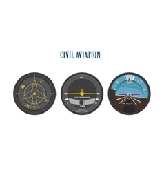 Control indicators aircraft and helicopters vector