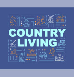 Country life word concepts banner vector
