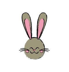cute rabbit easter spring celebration symbol vector image