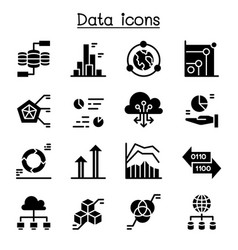 data information diagram graph icon set vector image