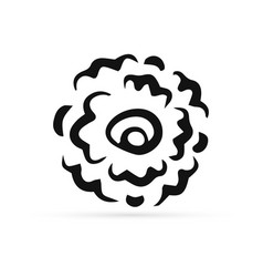 doodle rose icon isolated on white outline vector image