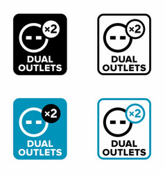 Dual outlets information sign vector