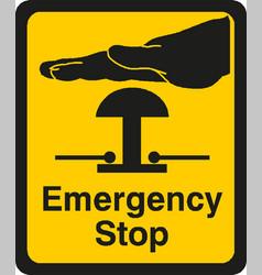 Emergency stop sign eps10 vector