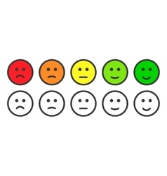 Emoji icons for rate of satisfaction level vector image