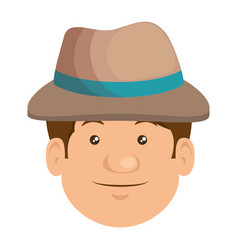 farmer avatar character icon vector image