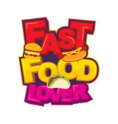 Fast food lover logo design vector