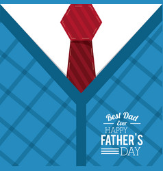 Fathers day card best dad ever day special vector