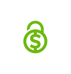 Finance security logo icon design vector