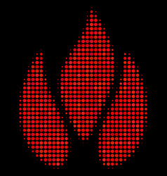 Fire halftone icon vector