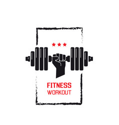 fitness workout sign vector image