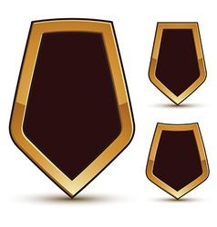 Geometric glamorous shield shape elements with vector image