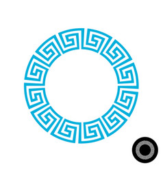 Greek round frame pattern vector