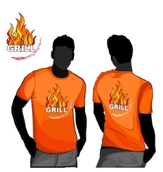 Grill t-shirt design vector image