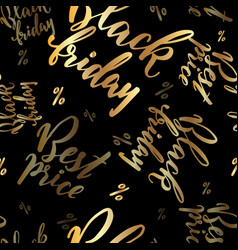 hand drawn lettering promo for black friday vector image