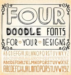 Handwriting Fonts vector image