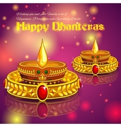 Happy diwali jewelry promotion background vector