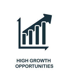 High growth opportunities icon simple element vector