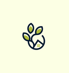 home gardening naturally business logo vector image