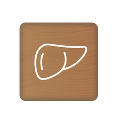human liver icon an internal organ human vector image