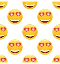 In love emoticon pattern vector image