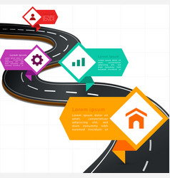 Infographic modern street road map four template v vector