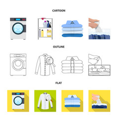 isolated object of laundry and clean symbol vector image