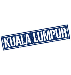 Kuala lumpur blue square stamp vector