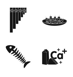 lipwort canape and other web icon in black style vector image