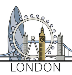 london city skyline vector image