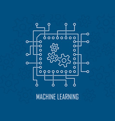 machine learning artificial intelligence vector image