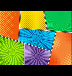 Mock-up colorful comic backgrounds vector