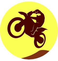 Motocross sign vector