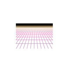 Neon grid vector