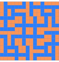 Orange blue crossword vector
