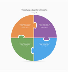 pie chart for infographic vector image