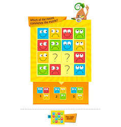 Pieces completes the puzzle vector