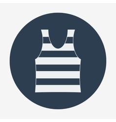 Pirate icon striped singlet Flat design vector image