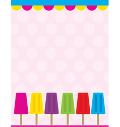popsicle background vector image