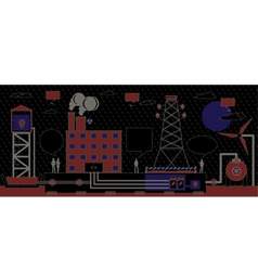 Power industry vector image