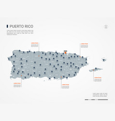 puerto rico infographic map vector image