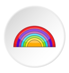 Rainbow LGBT icon cartoon style vector