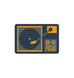 retro record player vector image