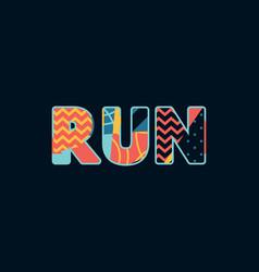 Run concept word art vector