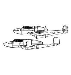 Saab 21 vector