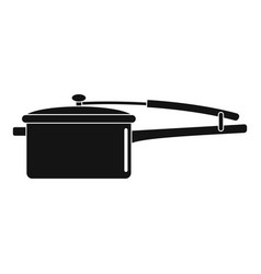 saucepan icon simple style vector image