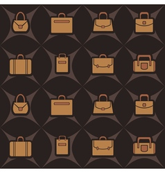 seamless background with woman bags vector image